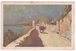 °°° 13704 - TAORMINA - STRADA CON LO SFONDO DELL'ETNA (ME) 1929 °°° - Italia
