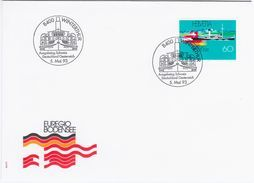 Switzerland Swiss Schweiz Svizzera Helvetia 1993 FDC Lago Di Costanza, Ship Ships Germany Austria - FDC