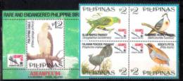 7660  Oiseaux - Birds - Philippines Yv 2112 á 15 + Bloc - MNH - 3,50 (13) - Oiseaux