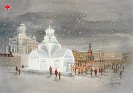 Postal Stationery - Birds - Bullfinches - Church In Winter Scene - Red Cross 1997 - Suomi Finland - Postage Paid - Finlande