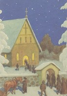 Postal Stationery - Birds - Bullfinches - Going To Christmas Church - Red Cross 2005 - Suomi Finland - Postage Paid - Finlande