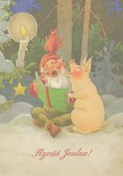 Postal Stationery - Birds - Bullfinches - Elf Singing With A Pig - Red Cross 2005 - Suomi Finland - Postage Paid - Finlande