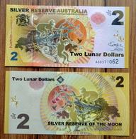 2016 SILVER RESERVE AUSTRALIA 2 LUNAR DOLLARS UNC > MONKEY - Verzamelingen & Reeksen