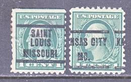 U.S. 424  PERF. 10   (o)  MISSOURI  WMK 190  1913-15 Issue - United States