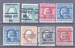 U.S. 498 +  PERF. 11   (o)  MISSOURI  NO WMK   1917-19 Issue - United States