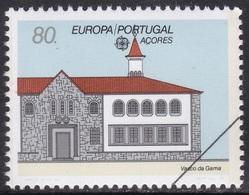 Specimen, Portugal Azores Sc389 Europa, Vasco Da Gama Post Office, Bureau De Poste - Europa-CEPT
