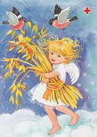 Postal Stationery - Birds - Bullfinches - Girl Holding Oatmeal - Red Cross 1993 - Äland - Suomi Finland - Postage Paid - Finlande
