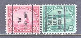 U.S. 698-99  PERF. 10 1/2 X 11   (o)  MISSOURI    1931 Issue - United States