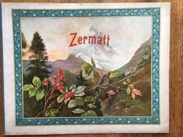 (Suisse, Photographie) ZERMATT. Album De 16 Photographies Sous Serpentes. Braun, Vers 1910. - Géographie