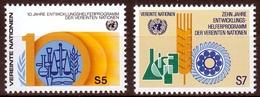 UNO Wien MiNr. 21/22 ** 10 Jahre Entwicklungshelfer-Programm Der Vere. Nationen - Sonstige - Europa