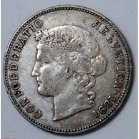 SUISSE 5 Francs 1891 CONFOEDERATIO HELVETICA Argent - Switzerland