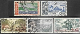 French West Africa  1951-4   Sc#C16-20  Used   2016 Scott Value $15 - Used Stamps