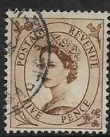 Great Britain, EIIR,  1955, 5d Brown, Used - Used Stamps