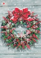 Postal Stationery - Christmas Wreath - Red Cross 2005 - Åland - Suomi Finland - Postage Paid - Finlande