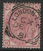 Great Britain,VR,  1881, 3d, Rose Imperial Crown Wmk, Plate 21,LONDON E.C. CX  DE 19 81 Squared C.d.s. - 1840-1901 (Viktoria)