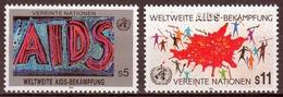 UNO Wien MiNr. 100/01 ** Weltweite Aidsbekämpfung - Sonstige - Europa