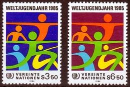 UNO Wien MiNr. 45/46 ** Internationales Jahr Der Jugend - Sonstige - Europa