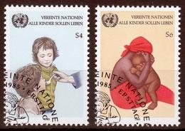 UNO Wien MiNr. 53/54 O UNICEF-Kampagne Gegen Kindersterblichkeit - Sonstige - Europa