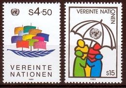 UNO Wien MiNr. 49/50 ** Freimarken - Sonstige - Europa