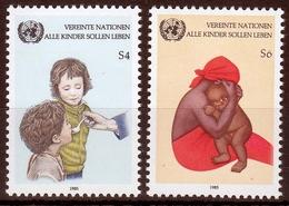 UNO Wien MiNr. 53/54 ** UNICEF-Kampagne Gegen Kindersterblichkeit - Sonstige - Europa