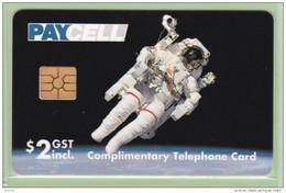 New Zealand - Paycell - 1995 Moon Landing $2 - Mint - Espacio