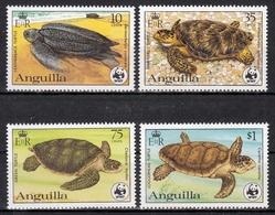 Anguilla MiNr. 541/44 A ** Weltweiter Naturschutz: Schildkröten - Anguilla (1968-...)