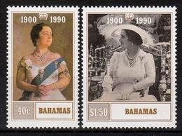 Bahamas MiNr. 726/27 ** 90. Geburtstag Von Königinmutter Elisabeth - Bahamas (1973-...)