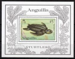 Anguilla MiNr. Bl. 49 ** Weltweiter Naturschutz: Schildkröten - Anguilla (1968-...)