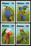 Bahamas MiNr. 728/31 ** Bahama-Weißkopfamazone - Bahamas (1973-...)