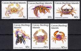 Kokos Inseln MiNr. 260/65 ** Freimarken: Krebstiere - Postzegels