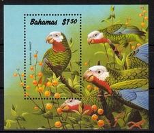 Bahamas MiNr. Bl. 62 ** Bahama-Weißkopfamazone - Bahamas (1973-...)