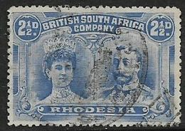 Southern Rhodesia B.S.A.Co., GVR, Double Head,  1910, 2 1/2d Ultramarine, Perf 14 Used - Southern Rhodesia (...-1964)