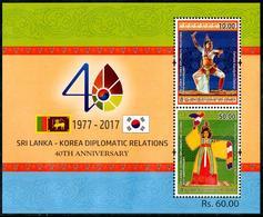 Sri Lanka 2017 Diplomatic Relations With Korea LK282 MNH** - Dance