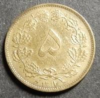 Iran 5 Dinars 1938 SH 1317 KM#1138 Very High Grade Rare! - Irán
