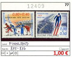 Finnland - Finland - Suomi - Finlande - Michel 815-816 - ** Mnh Neuf Postfris - - Ungebraucht