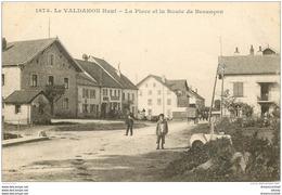 WW 25 LE VALDAHON HAUT. La Place Et La Route De Besançon - France