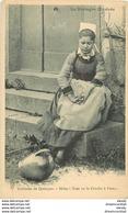 WW LA BRETAGNE. Coiffe Jeune Fille Avec Costume De Quimper Vers 1900 - Bretagne