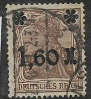 Germany, 1921, 1,60 M Surcharged On 5pf, Used - Used Stamps