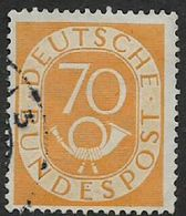 Germany, 1952, Posthorn, 70pf, Used - [7] Federal Republic