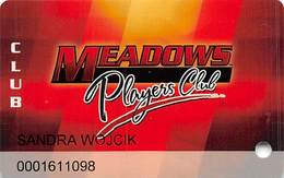 Meadows Racetrack & Casino - Washington, PA USA - Slot Card - 1 Line Of Bold Text On Reverse - Casino Cards