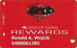 Mesquite Gaming - CasaBlanca & Virgin River Casinos - Mesquite, NV - Slot Card - Mentions No Activity For 13 Months - Casino Cards