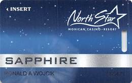 North Star Mohican Casino - Bowler WI - Slot Card - New Variation With No Starburst & Diff. Size Text - Casino Cards