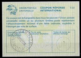 BERMUDA/ BERMUDES La22 International Reply Coupon Reponse Antwortschein IAS IRC O HAMILTON 28.10.76 - Bermuda