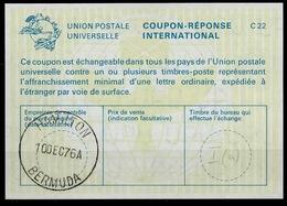 BERMUDA/ BERMUDES La22 International Reply Coupon Reponse Antwortschein IAS IRC O HAMILTON 10.12.76 - Bermuda