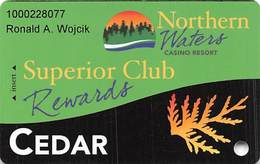 Northern Waters Casino - Watersmeet, MI - Slot Card - Casino Cards
