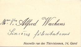 Visitekaartje - Carte Visite - Mme Vve Alfred Wackens - Gent - Cartes De Visite