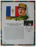 Encart 1er Jour De Gaulle Appel Du 18 Juin - De Gaulle (Général)