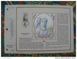 Document Philatelique Edition Soie (silk Edition) Madame Roland - French Revolution