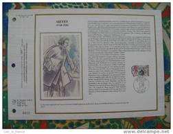 Document Philatelique Edition Soie (silk Edition) Sieyes Frejus - Freemasonry