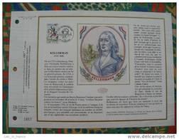 Document Philatelique Edition Soie (silk Edition) Kellerman Strasbourg - Freemasonry